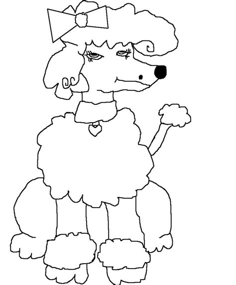 poodle art coloring pages