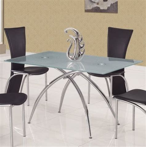 Glass And Metal Dining Tables Glass And Metal Contemporary Dining Table Pasadena California Gft12dt