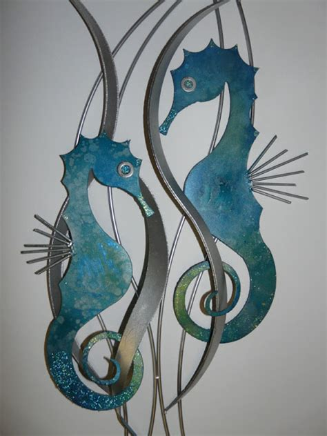 Seahorse Wall Decor by Seahorse Metal Wall Allthingabout
