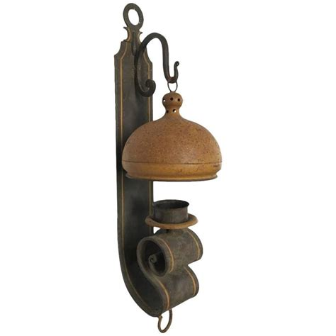 Tole Wall Sconces large tole painted iron wall sconce for sale at 1stdibs