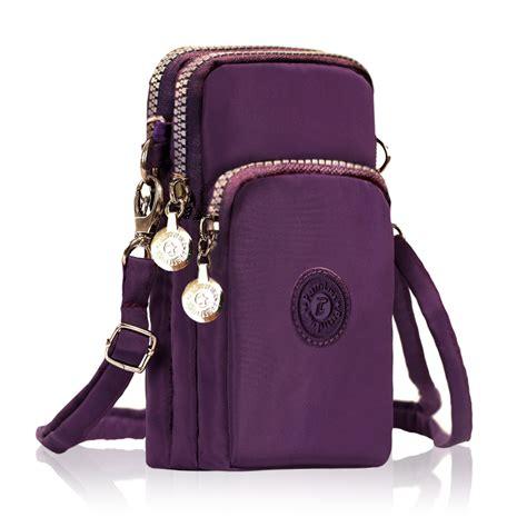Tas Pouch 3 Layer three layer storage zipper waterproof shoulder bag wrist bag for iphone 7 plus 6splus 5 5 inch