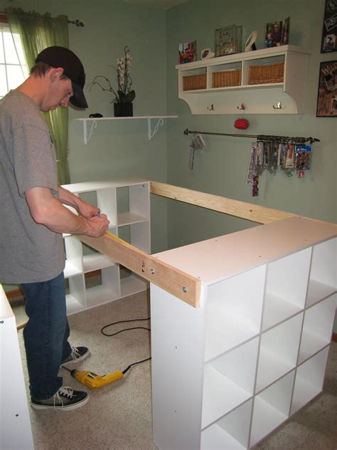 How To Build A Home Office Desk Do It Yourself White Craft Desk