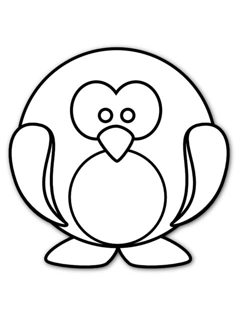 penguin printable coloring pages preschool free printable coloring pages kids
