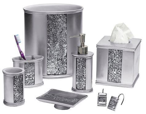 Sinatra Silver Bling Bath Accessories: BedBathHome.Com