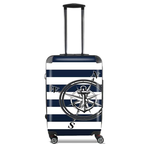 valigie cabina valise navy striped cabine trolley personnalis 233 e