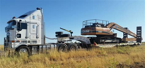 can a service in go anywhere cairns low loader float service mick newport contracting