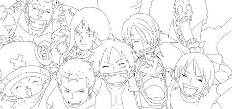 straw hat coloring page one piece straw hat crew drawing sketch coloring page