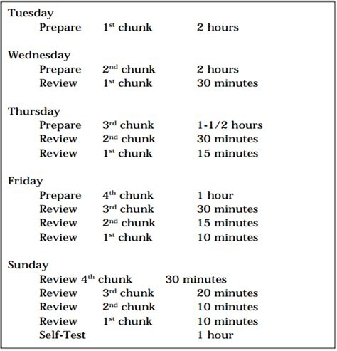 the 5 day study plan
