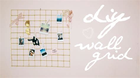 painted wall grid diy urban outfitters wall grid cheap easy youtube