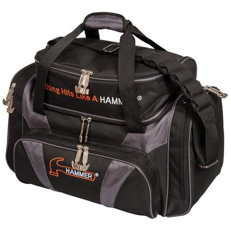 bowling bags hammer deluxe carbon tote 2 bowling bags