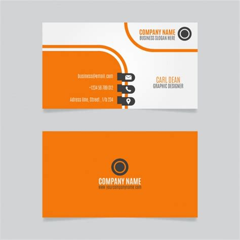 id card design orange orange curvy business card design free vectors ui download