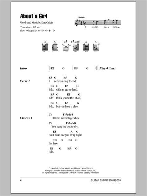 guitar tutorial nirvana about a girl by nirvana guitar chords lyrics guitar