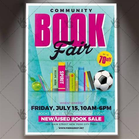 Book Fair Flyer Template community book fair premium flyer psd template psdmarket