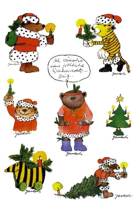 Aufkleber Janosch by Janosch Stickerpostkarte Weihnachten Aufkleber Tiger B 228 R