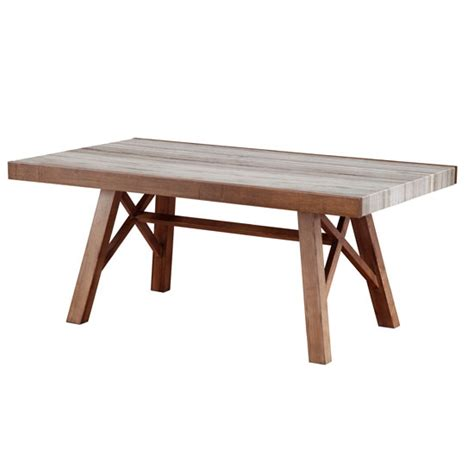 illumi dining table in marble and ash wood in