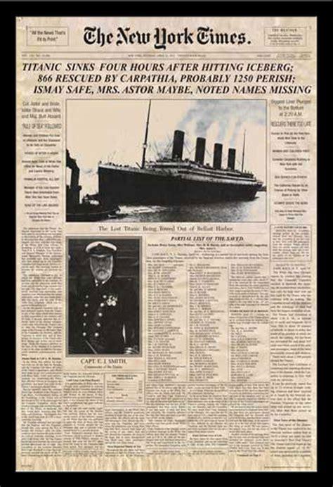 film titanic zusammenfassung titanic newspaper zeitung new york times film poster
