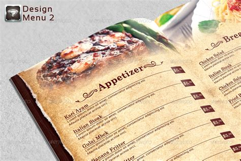 modern menu templates modern vintage restaurant menu templates by riliant dika