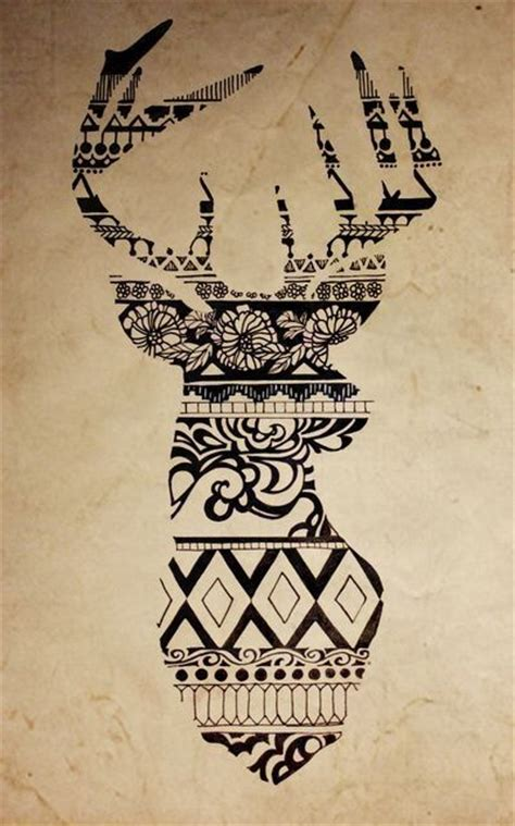 aztec pattern sketch drawing reindeer aztec drawings pinterest aztec