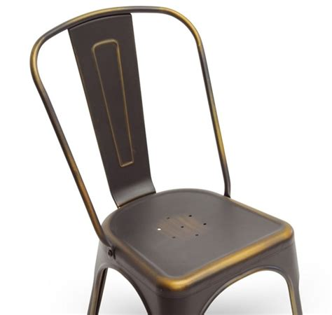 Copper Bistro Chair Talix Industrial Bistro Chair In Antiqued Copper Modernselections