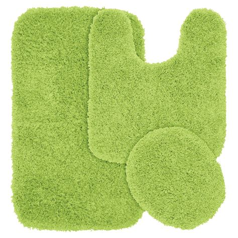 green bath rugs upc 096577031547 garland rugs jazz set of 3 shag bath rugs lime green upcitemdb