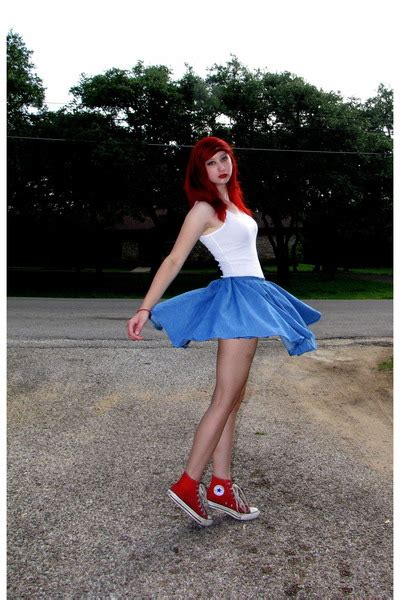 white tank top lilu tops blue denim diy skirts highs