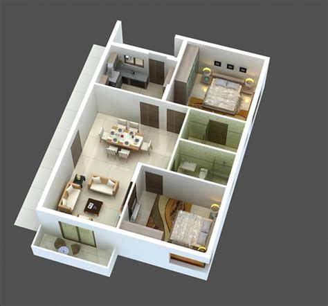 Home Design 3d 2bhk | swanlake
