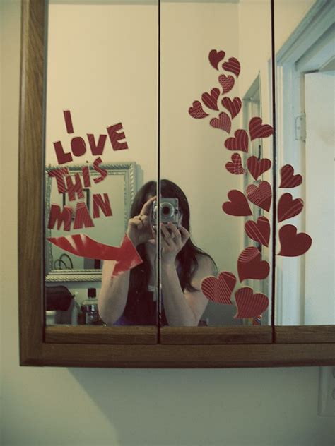 how to surprise your boyfriend in bed valentine s day idea use paper and tape to make a bathroom mirror surprise for your sweetie