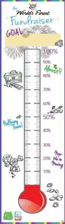 Printable Fundraising Thermometer Money Raising Thermometer Eric W Gould Pinterest Goal Fundraising Charts Templates