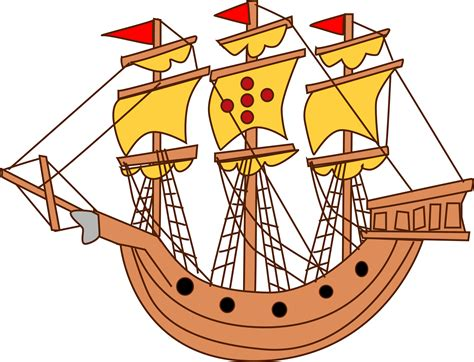 big boat sailing sailing ship clipart big boat pencil and in color