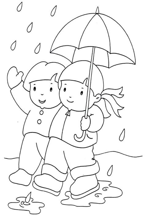 coloring pages rain autumn coloring pages to color in when it s wet outside