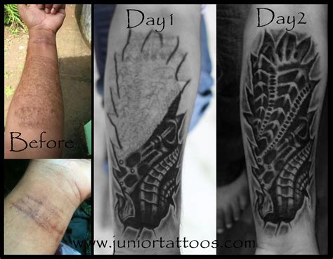 bio tattoos coverup bio mech 2014 astron tattoos india