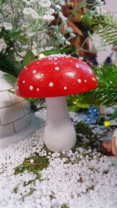 red  white toadstool fairygardensukcouk