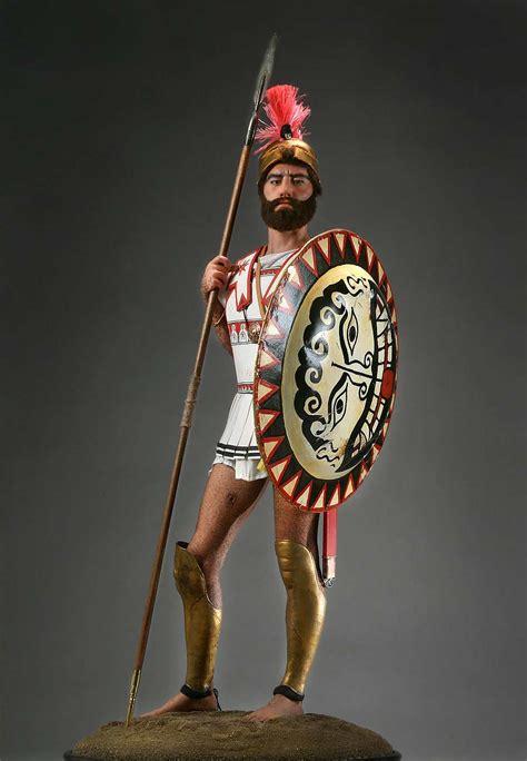 full length portrait of greek hoplite warrior aka