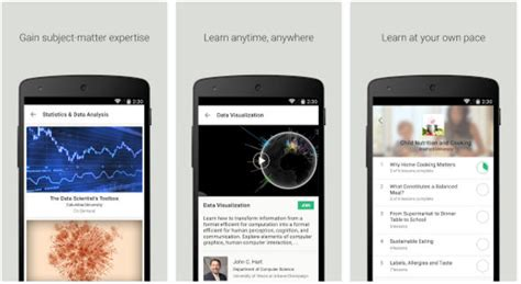 android tutorial coursera top 7 best learning apps for android and ios 2017