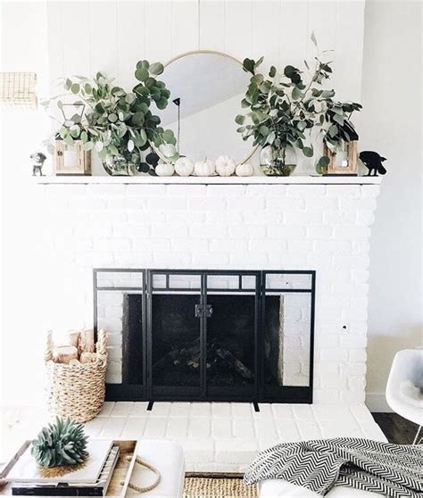 White Brick Fireplace Decorating Ideas by Best 20 White Brick Fireplaces Ideas On Brick