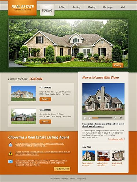 real state template templates real estate http webdesign14