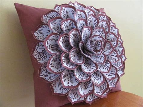 Handmade Fabric Flower Patterns - 17 best ideas about felt flower pillow on felt