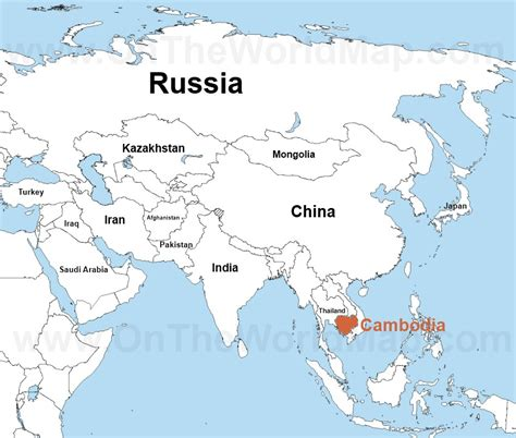 cambodia in the world map where is cambodia located on the world map