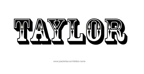 taylor name tattoo designs