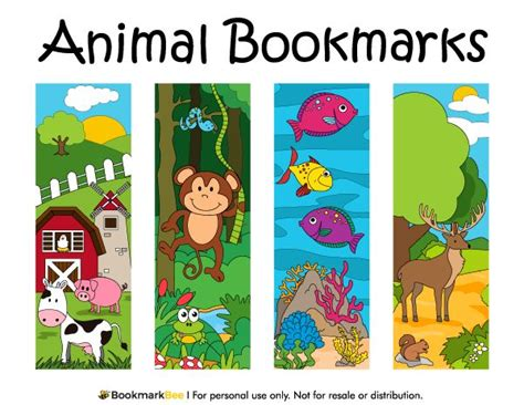 printable animal bookmarks 100 best printable bookmarks at bookmarkbee com images on