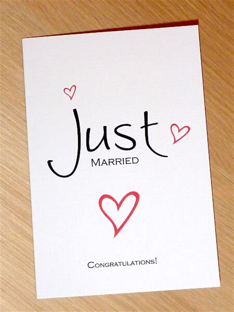 Wedding Wishes For Just Married by Just Married Modern Wedding Day Congratulations Card