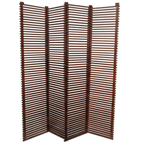 slatted room divider mid century modern tall solid wood slat room divider