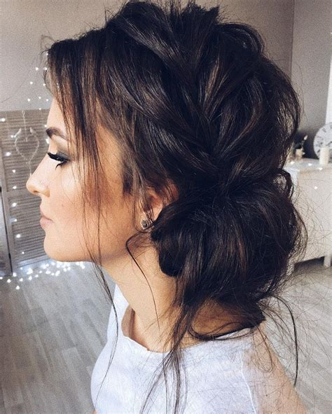 wedding hairstyles with side braid beautiful updo with side braid wedding hairstyle for