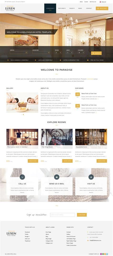 pinterest style layout bootstrap luxen premium hotel bootstrap template website design