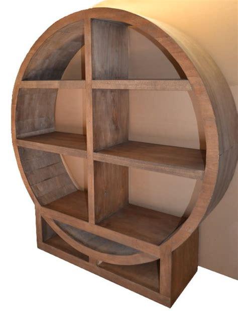 circular bookshelves bookcase winerack circular 3 shelf wood custom the zen a maplebea