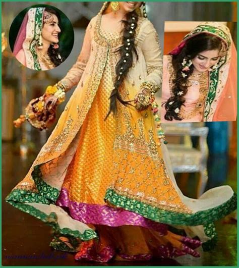 elegant and beautiful bridal mehndi dress designs   top pakistan