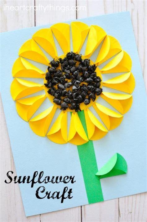 Sunflower Paper Craft - folded paper sunflower craft sunflower crafts flower