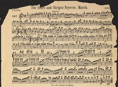 the piccolo is in what section of an orchestra image 15 of stars and stripes forever library of congress
