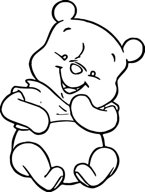pooh coloring pages baby winnie the pooh mouse coloring page wecoloringpage