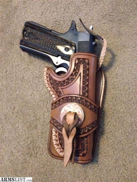 Handmade Leather Pistol Holsters - armslist for sale handmade leather gun holster colt 45